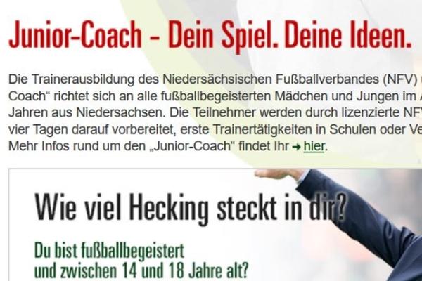 Junior Coach Lehrgang in Garrel mit Unterstützung durch die Fußballschule-Garrel